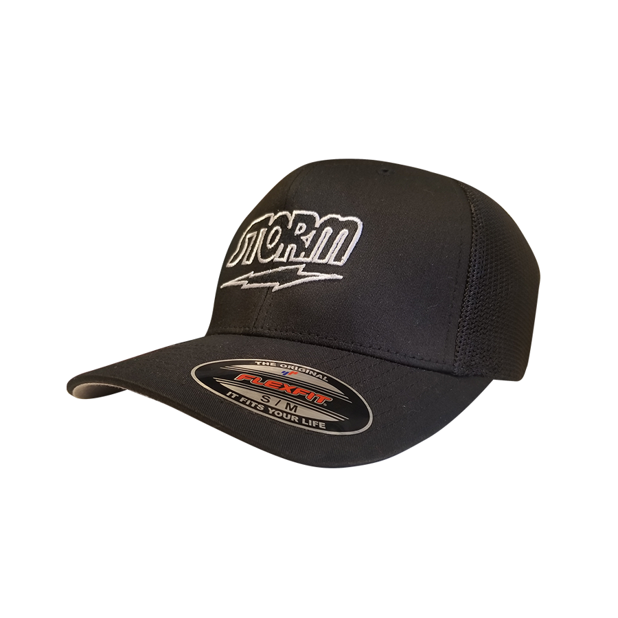 STORM FITTED HAT BLACK